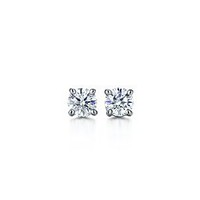 Tiffany & Co. | Item | Tiffany solitaire diamond earrings in platinum. | United States