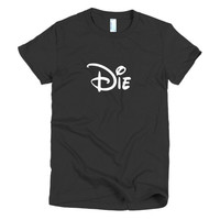 Die Cartoon Mouse Typography Women's T-Shirt