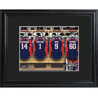 NHL Locker Room Print in Wood Frame - Panthers
