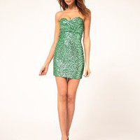 TFNC Bandeau Sweetheart Sequin Dress at asos.com