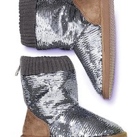 Bling Faux-fur Bootie