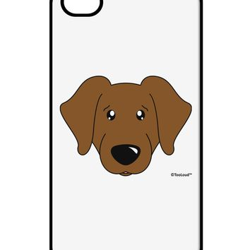 Cute Chocolate Labrador Retriever Dog iPhone 4 / 4S Case  by TooLoud