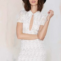 Stone Cold Fox Luke Embroidered Mesh Dress
