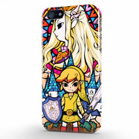 Adventure Time Legends Of Zelda Glass Stained iPhone 5   5s Case, 3d printed IPhone case