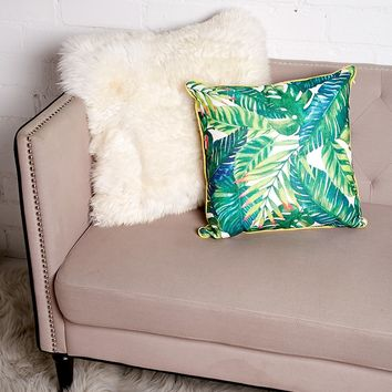 Foliage Print Pillow