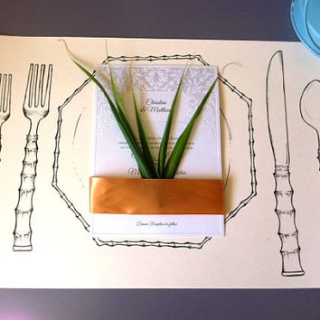 bridal shower decor,safari table decor,beach wedding decor,hawaiian table decor,handmade placemat,wedding table decor,disposable placemats
