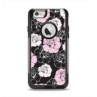 The Pink and Black Rose Pattern V3 Apple iPhone 6 Otterbox Commuter Case Skin Set