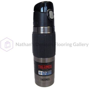 Thermos Vacuum Insulated Hydration Bottle - 18 oz. - Stainless Steel/Charcoal