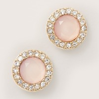 Pave Gem Stud Earrings