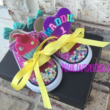 Cupcake Birthday Custom Bling Converse
