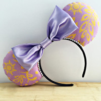 Rapunzel Minnie Ears, Rapunzel Mouse Ears, Disney Minnie Ears, Princess Rapunzel Ears