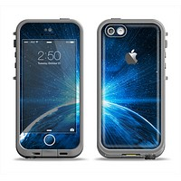 The Bright Blue Earth Light Flash Apple iPhone 5c LifeProof Fre Case Skin Set