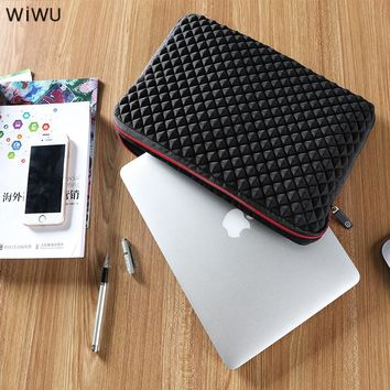 WIWU New Laptop Bag 13 13.3 14 15.4 15.6 17 17.3 Inch Diamond Design for Xiaomi Air Pro Notebook Laptop Sleeve Case Neoprene