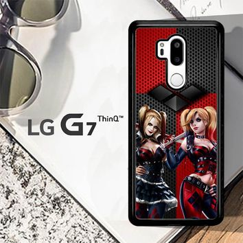 Harley Quinn Black Diamonds Logo Z2940 LG G7 ThinQ Case