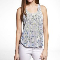 STUDDED FEATHER PRINT TANK