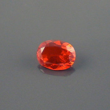 Fire Opal: 1.18ct Red Orange Oval Shape Gemstone, Loose Natural Hand Made Mexican Faceted Precious Gem, DIY Necklace Pendent OOAK Craft O38