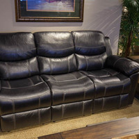 66008-03 Champion Black Recliner