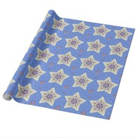 Blue Goldfish Design Wrapping Paper