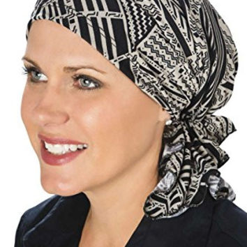 Slip-On Slinky Pre-Tied Head Scarf: Scarves for Cancer Patients, Chemo - Neutral Tribal