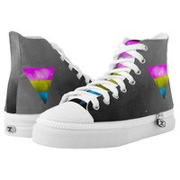 LGBT Pride Pansexual Pan Triangle Galaxy Printed Shoes