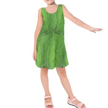 Kid's Tinkerbell Peter Pan Inspired Sleeveless Dress