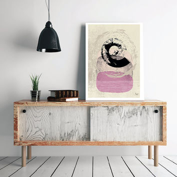 Abstract art Spiral Poster Geometric art poster Minimal Modern Scandinavian Style Abstract Digital poster print INSTANT DOWNLOAD.