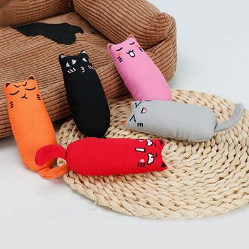 1pcs Cat Toy Cute Interactive Fancy Pets Teeth Grinding Catnip Toys Claws Thumb Bite Cat Mint Cat Scratcher Chewing Cat Toys