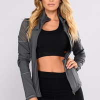 Katia Mesh Active Jacket - Charcoal