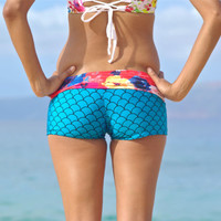 KEALIA : Yoga Surf Bathing Suit Bikini Shorts Bottoms Custom Made by Peace of Paradise Creations