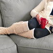 Alpine Thigh High Slouch Sock - Cream thick cable knit socks with fold over cuff and tassel tie - boot sock leg warmer (item no. 6-7)
