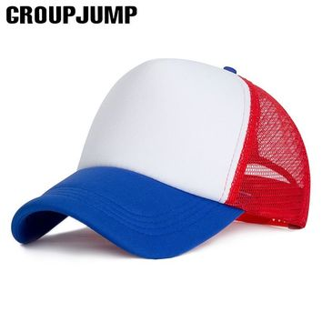 Trendy Winter Jacket GROUP JUMP Mesh Baseball Cap Men's Cotton Solid Color Snapback Caps For Men Women Bone Mesh Hats 2018 Dad Caps Trucker Cap AT_92_12