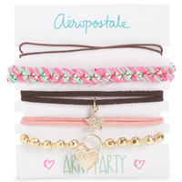 Aeropostale  Womens Arm Party Bracelet 5-Pack - Pink