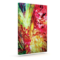 "Mary Bateman ""Passion Flowers I"" Outdoor Canvas Wall Art"