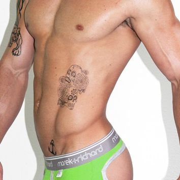 Core Open Back Brief-Lime