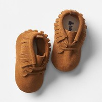 Lace-up fringe moccasins | Gap