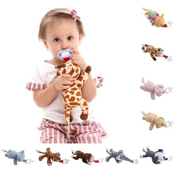 Animal Toys Soother Pacifier Holder (Pacifier not included)