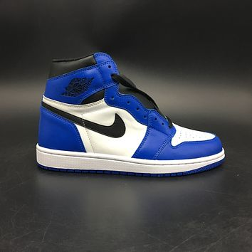 2018 DS Air Jordan Retro 1 High OG Game Royal Blue 555088 403  Basketball Sneaker