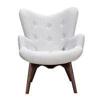 Aiden Chair Glacier White - Walnut