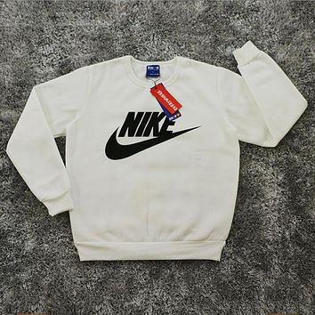 Nike: Male / female fashion sports sweater white I