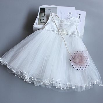 Luxury Girls Tutu Dress For Birthday Party Lace Elegant Princess Girls Ball Gown Boutique Dresses