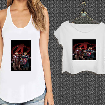 iron man and captain america For Woman Tank Top , Man Tank Top / Crop Shirt, Sexy Shirt,Cropped Shirt,Crop Tshirt Women,Crop Shirt Women S, M, L, XL, 2XL*NP*