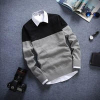 Mens Warm Slim Fit Comfortable Pullover Sweater