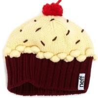 Neff Women's Cupcake Beanie Hat, Red Velvet, One Size