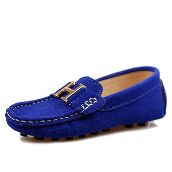 2015 children  leather casual shoes  fashion Moccasins boat shoes boys and girls sneakers leather casual baby single shoes