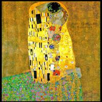 "Gustav Klimt ""The Kiss II"" 1907 - Giclee Art Print"