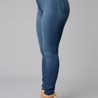 Classic High Waist Skinny Jeans - Medium Blue | Fashion Nova