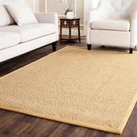 Safavieh Chunky Basketweave Maize Beige Sisal Rug | Overstock.com Shopping - The Best Deals on 7x9 - 10x14 Rugs