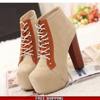 Colorblock ankle boot