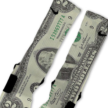 Two Dollar Bill Lucky 2 Customized Nike Elite Socks!!