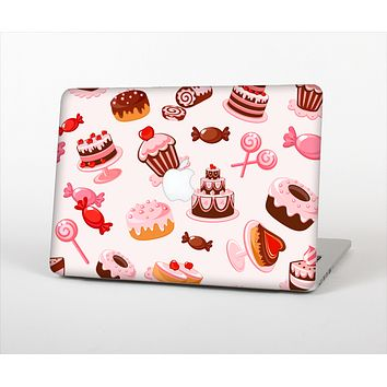 "The Pink Sweet Treats Pattern Skin Set for the Apple MacBook Pro 13"" with Retina Display"